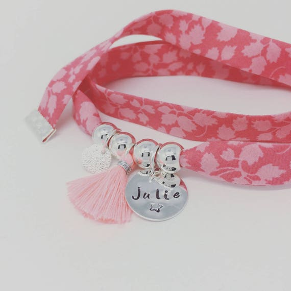 Bracelet personalized GriGri XL Liberty with and tassel by Palilo