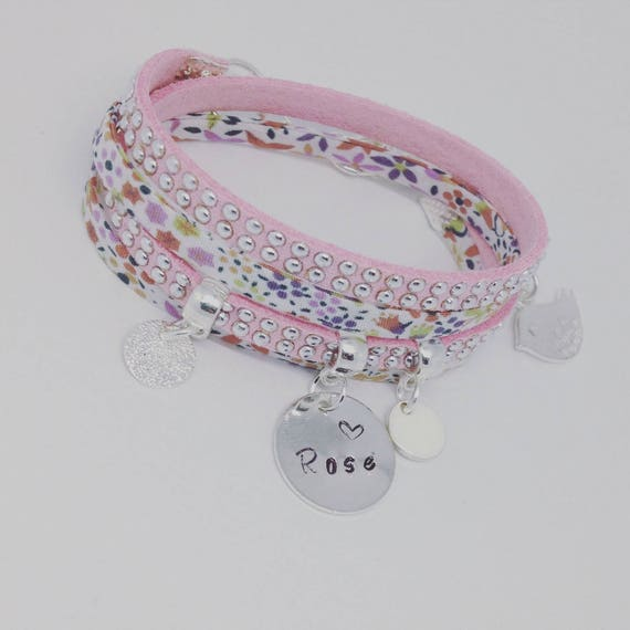 "KID'S COLLECTION. My personalized bracelet Liberty with etching by Palilo jewelry ""Little Girl"""