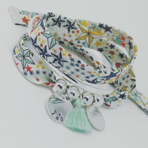 LIBERTY Adelajda * Bracelet personalized GriGri XL Liberty with custom engraving and tassel by Palilo