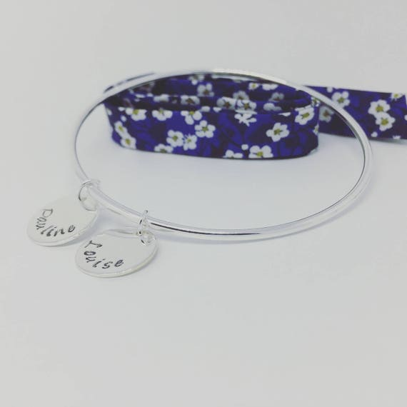 MOTHER's day - Plated 925 with 2 custom silver Bangle