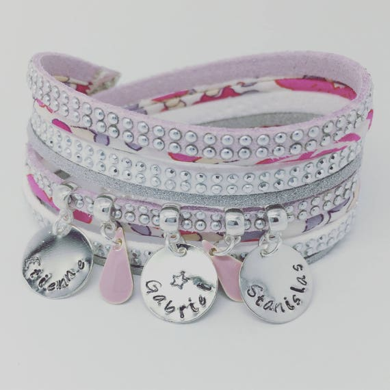 ★ custom creative Liberty multi strand with 3 prints custom by Palilo Jewelry Personalized Bracelet ★