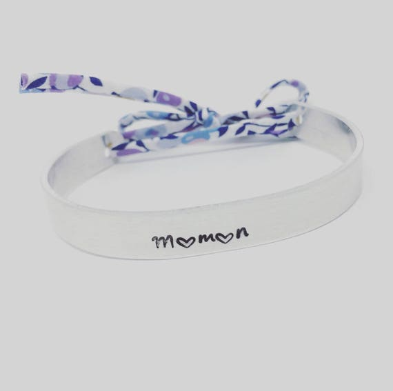 MOTHER's day - Personalized Bangle Liberty - Liberty silver cuff Bangle