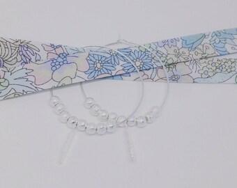 Mes Boucles d'Oreilles argentées Plumetis (grand modèle) by Palilo