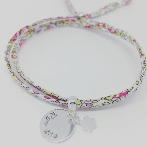 ★★★ Liberty child ★★★ my 1st GriGri Liberty flower silver with personalized engraving. Baby bracelet