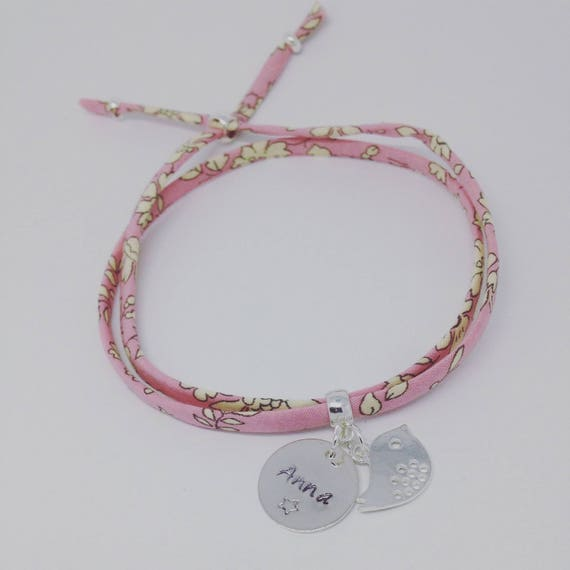 Personalized Bracelet GriGri Liberty print choice. Teen & adult by Palilo bracelet