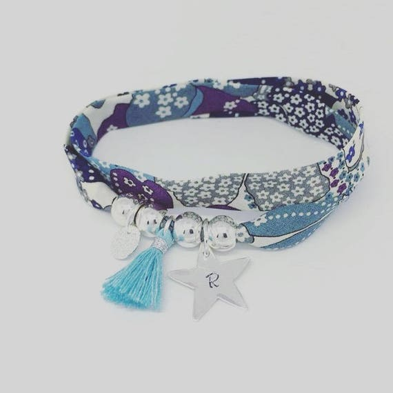 Personalized Bracelet lucky XXL Liberty with etching star money by Palilo