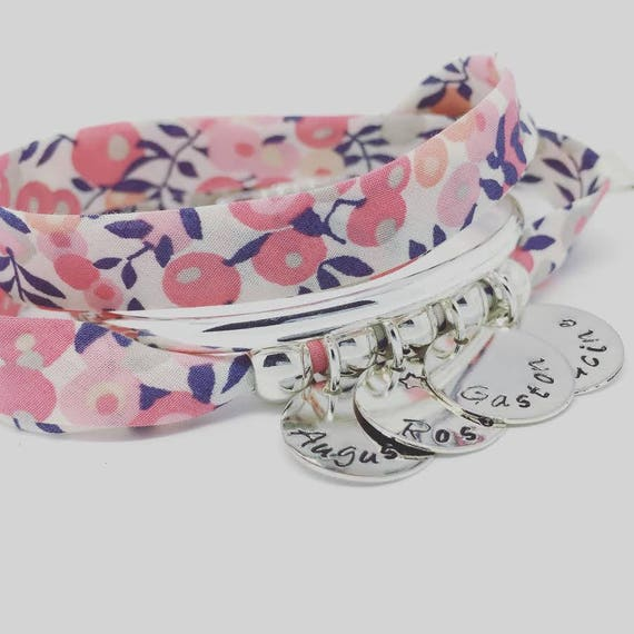 ★ Gift mother of mothers ★ GriGri XL Liberty Bracelet with 4 prints to choose by Palilo