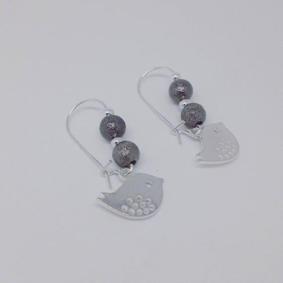"""My """"Little Bird"""" by Palilo Silver earrings"""