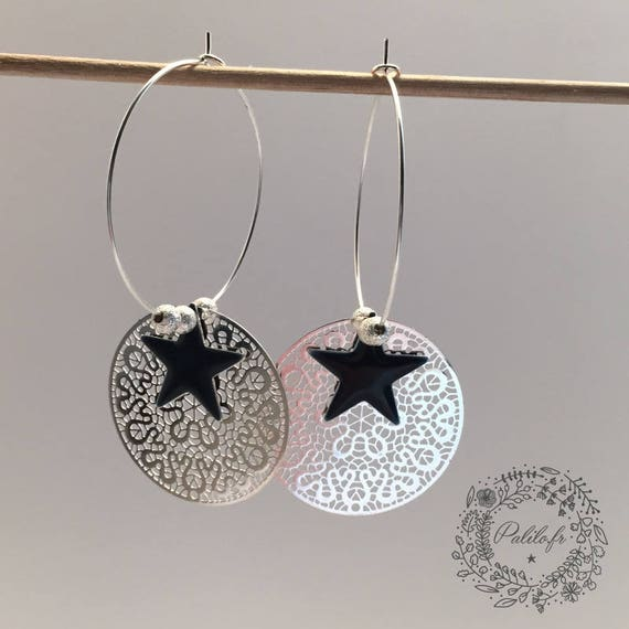 My BOHO CHIC (large) by Palilo simply Silver earrings