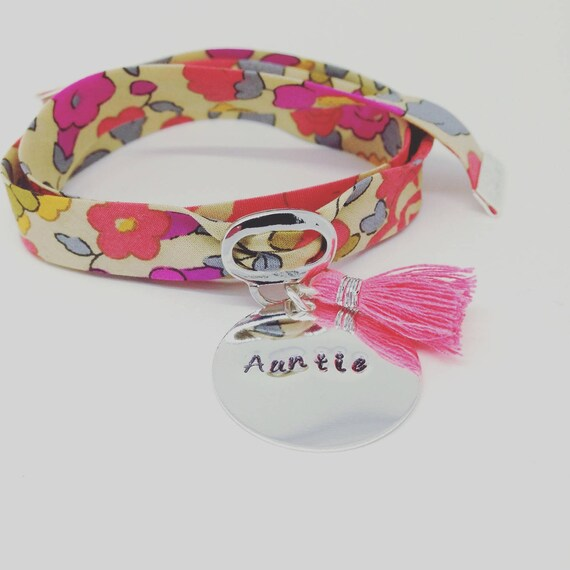Beautiful personalized bracelet GriGri XL Liberty with personalized engraving & tassel by Palilo