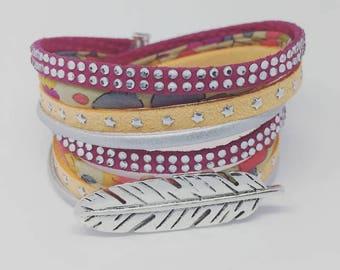 *** Liberty of London BOHEME CHIC *** Bracelet multi-rangs Liberty of London avec PLUME XXL by Palilo bijoux