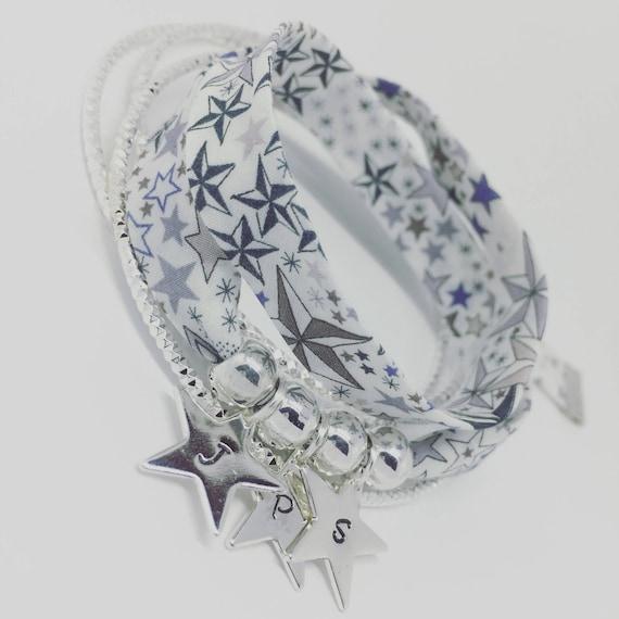 Personalized jewelry - my constellation - Bracelet GriGri XL Liberty of London Liberty - 3 prints custom