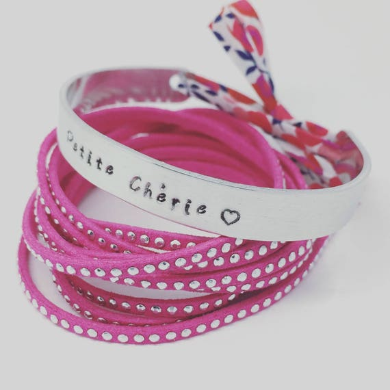 Christmas gift idea Bracelet ★ ★ personalized Liberty end cuff Bangle Silver Ribbon ★ ★