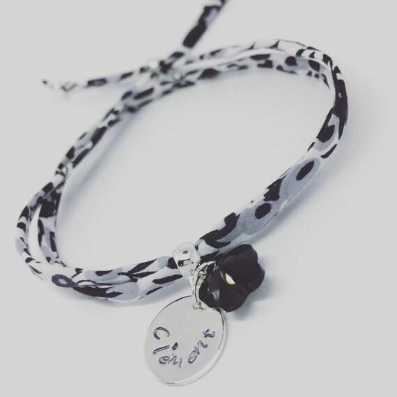 LIBERTY SWAROVSKI BRACELET - Personalized Bracelet GriGri Liberty - engraving choice