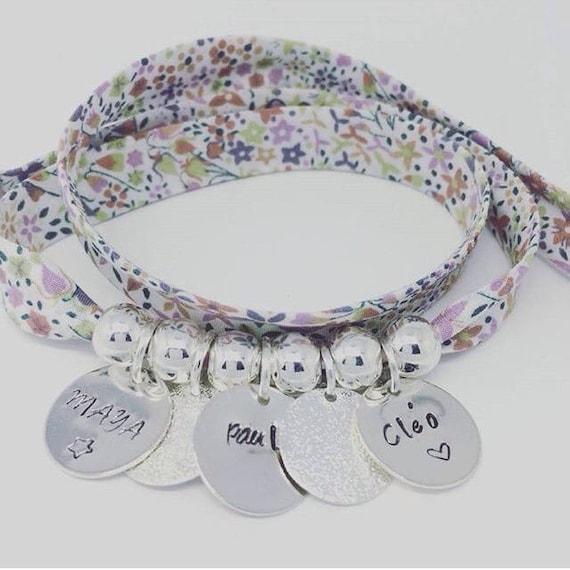 Bracelet GriGri XL Liberty with 3 prints custom by Palilo jewelry
