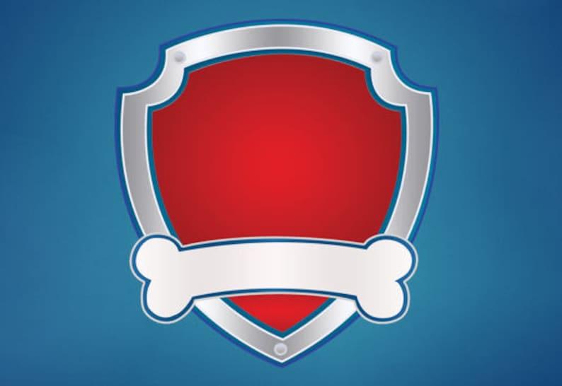 paw patrol badge outline emblem logo image clipart
