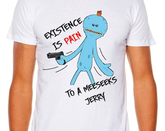 Rick and Morty Mr. Meeseeks Funny AS COLOUR T-shirt