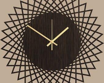 Große Wanduhr Uhr   Holz Wand Uhr Savanne, Wand, Holz Dekor, Geometrische  Moderne Uhr, Wohnzimmer Uhr Küchenuhr, Inneneinrichtungen