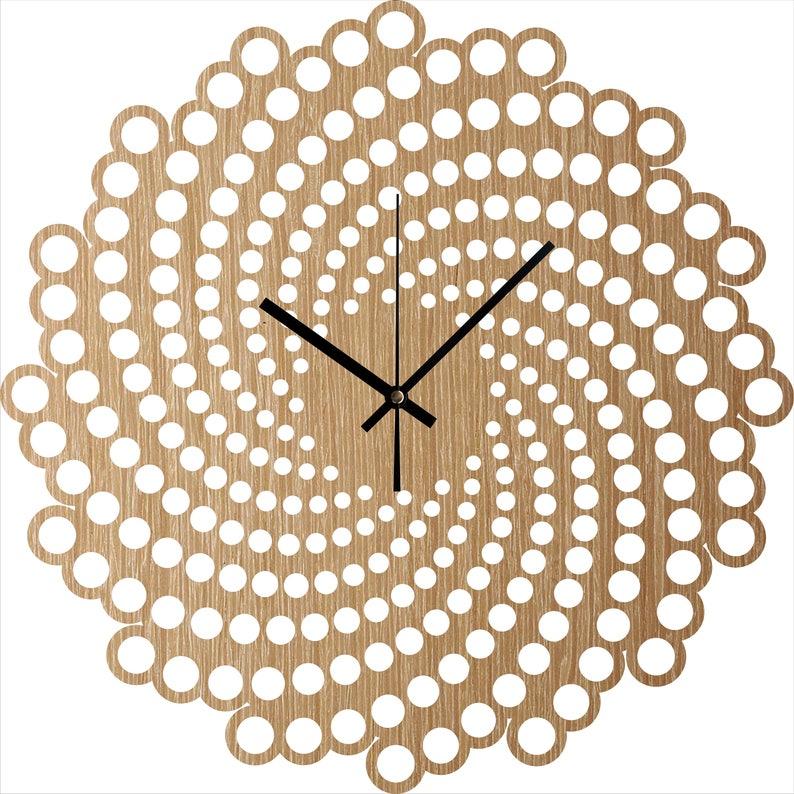 Wanduhr - Holz-Wand-Uhr-Spirale, hängende Wanduhr, Wohnzimmer Uhr,  minimalistischen Uhren, Stille natürliche Eiche Uhr, Haus und Leben