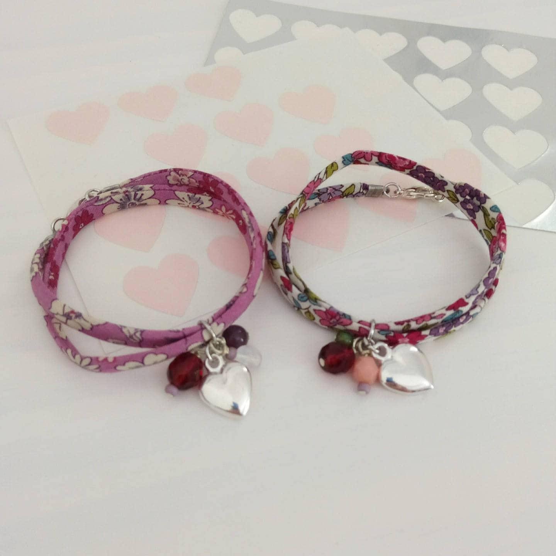 2 bracelets liberty offrir cadeau demoiselle d 39 honneur etsy. Black Bedroom Furniture Sets. Home Design Ideas