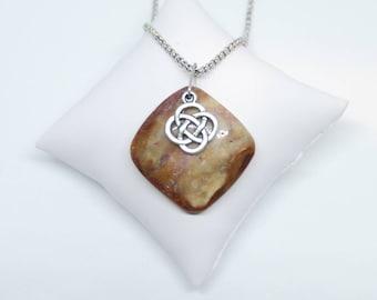 Celtic Earth Stone Pendant