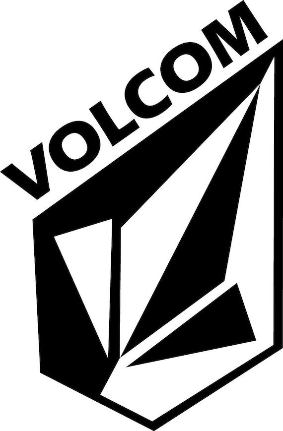 Logotipo Volcom Negro Y Blanco No Fondo Logotipo Volcom De Etsy