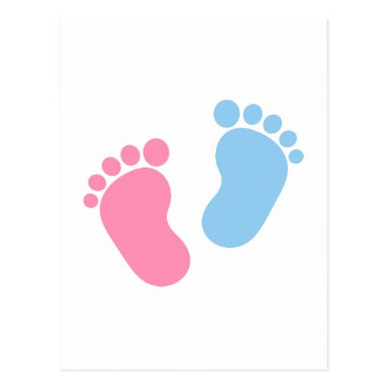 35c0579b6c7 Baby foot step 2 Color decal   5 x 5  made in USA