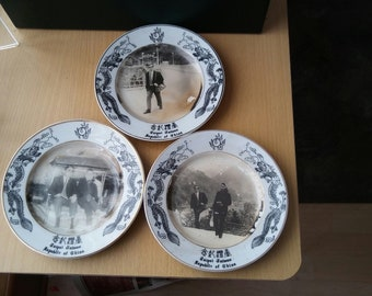 China taiwan vintage commemorate porcelain plates of 3