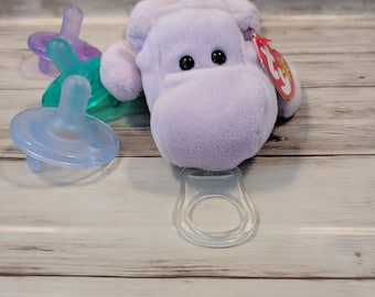 1c8bfd235c6 Pacifier Holders- Hippo- FREE PACIFIER- Pacifier Holder- Gender Neutral-  Baby Shower- Soothie- Baby Boy- Baby Girl- Binky