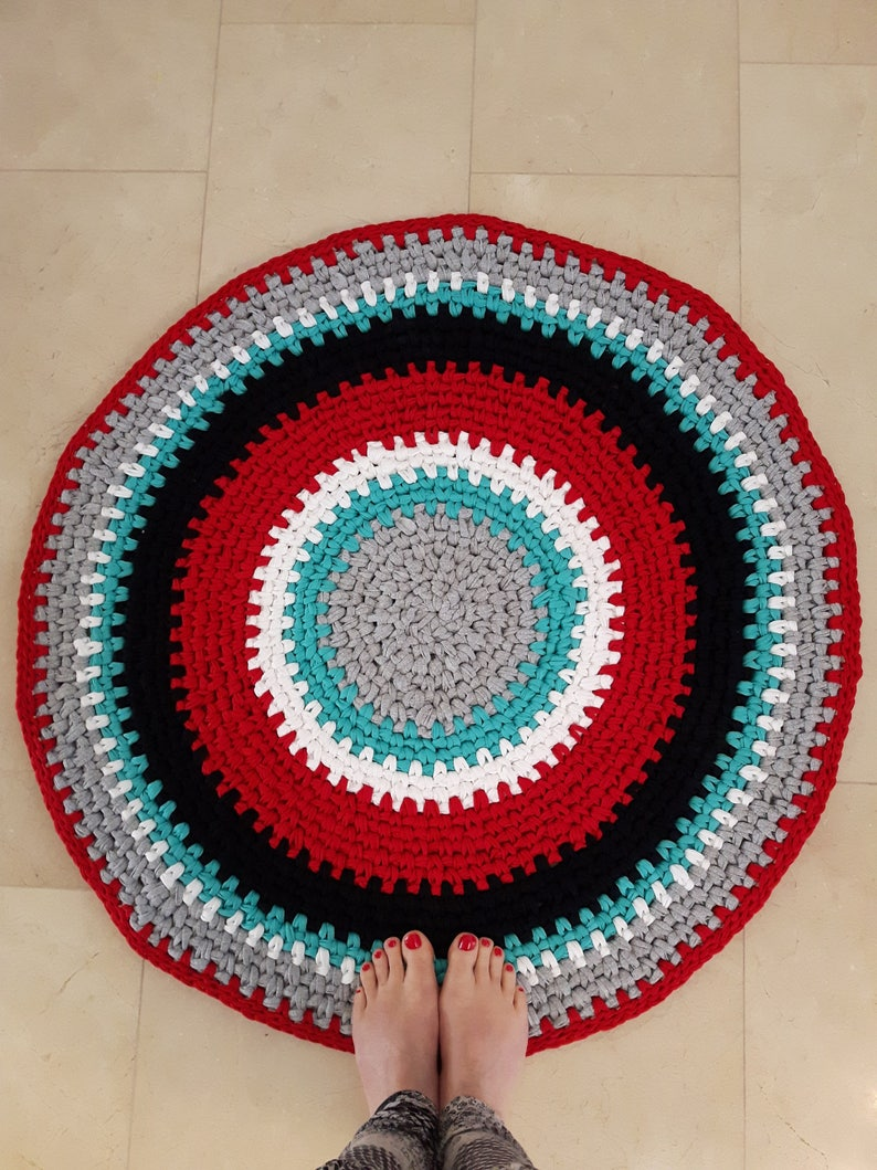 Design Your Own T Shirt Rug Crochet Rug Home Made Rug Hand Etsy