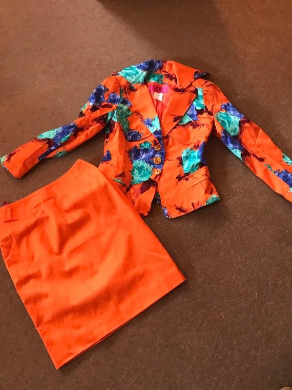 Vintage Genuine Christian Lacroix 1980s Skirt Suit