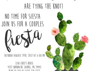 Fiesta Couples Shower invites