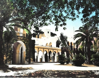 Algiers, the summer palace - Africa map North French postcard Africa - colors - French written postcard