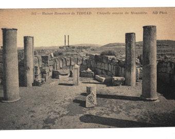 Timgad ruins Roman Algeria North Africa - old postcard 1900 s - Neurdein photography sepia landscape orientalist Algeria