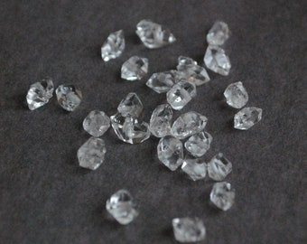 Lot 25 authentic Crystal Herkimer - diamond quartz Herkimer - 4/5 to 5 / 7mm - natural semi precious stone