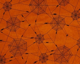 Studio Fabrics Witchy Spider Webs 1/2 yard