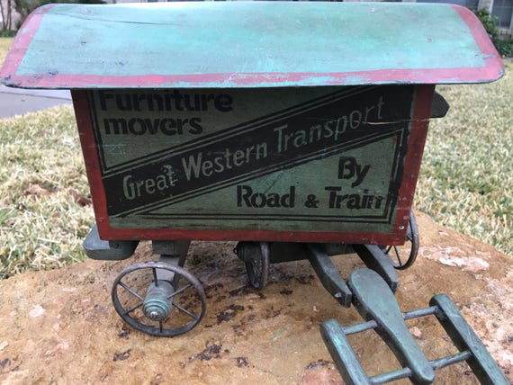 Antique Transport Wagon Toy Etsy