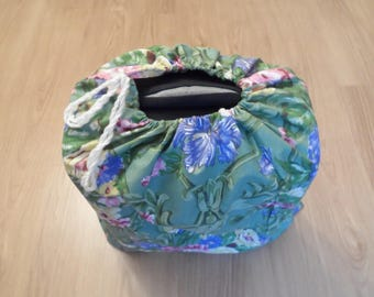 BAG bag-canvas cotton, floral and reversible cabin