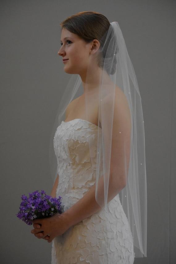 2T//25 Brautmoden In ihrem zuhause Schleier,In ihrem zuhause Brautmoden Schleier Mit Kamm Schneiden Edge Ellenbogen