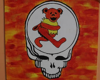 Steal Your Face Dancing Bear Grateful Dead Painting