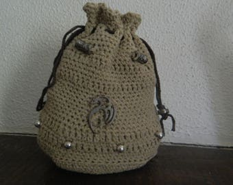 Small crocheted purse pouch
