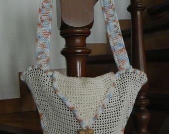 crocheted star hand bag