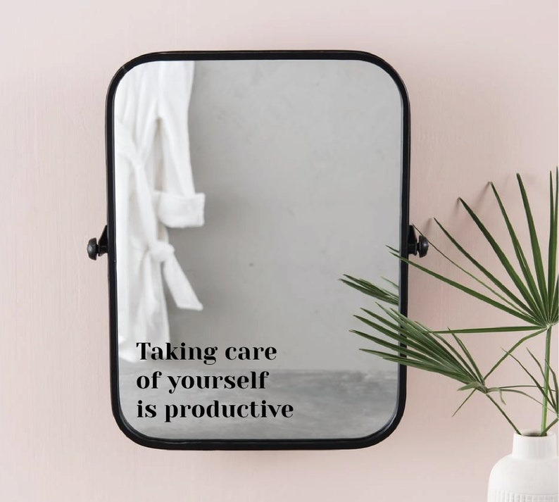 Taking Care Of Yourself Is Productive Minimalist Hand image 0