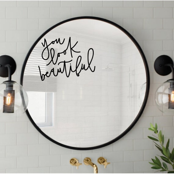 You Look Beautiful Body Positive Minimalist Hand Lettering Etsy