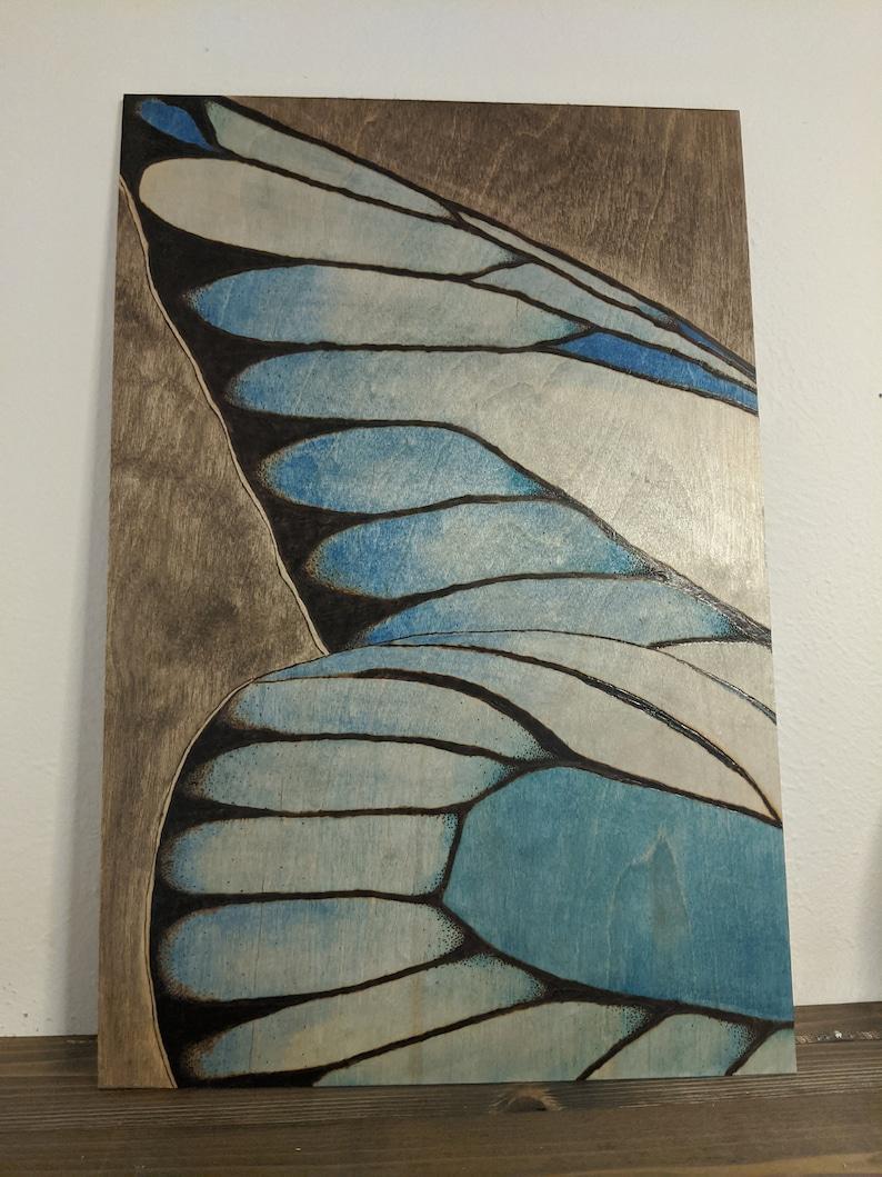 Butterfly wood burned art