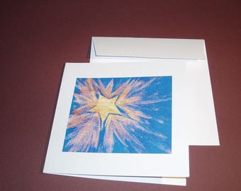 """Card """"the lucky stars"""" with its envelope."""