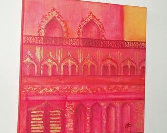 Paint - Palace Orient dream, original painting on canvas, signed unique piece.