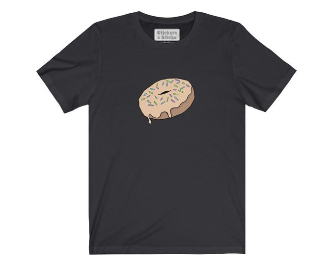 Sprinkled Maple Donut Tshirt - Unisex Jersey Short Sleeve Tee