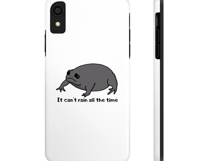 Grumpy Frog - It Can't Rain All The Time - Case Mate Tough Phone Cases