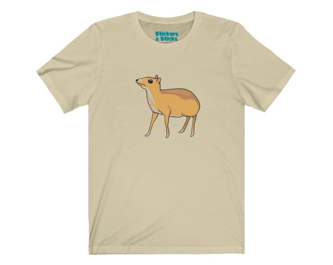 Chevrotain T-shirt - No Words - Fanged Mouse Deer Shirt - Unisex Jersey Short Sleeve Tee